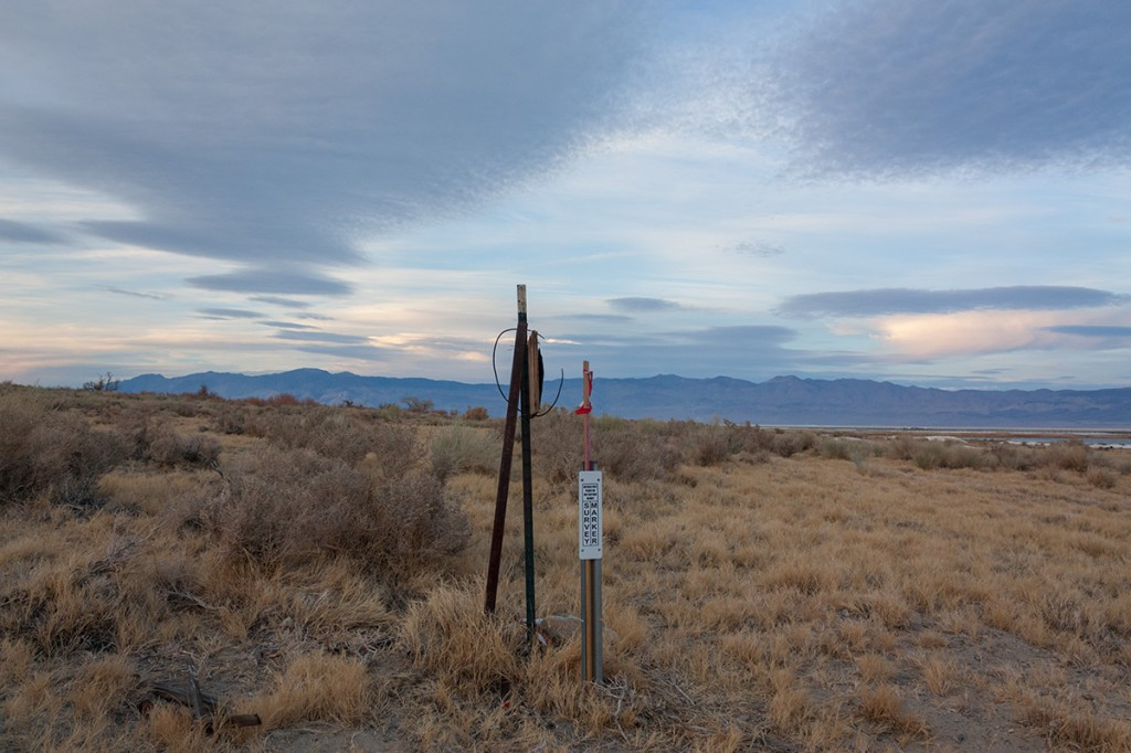"Looking North from the ""Triangle's"" Southern tip (Survey Marker)"