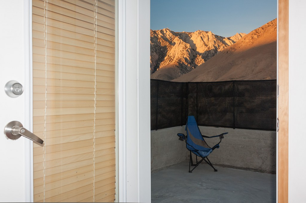Sunrise View to Master Patio and Olancha Peak Beyond